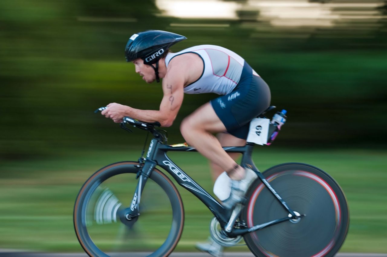 Triathlete with good much thoracic flexion